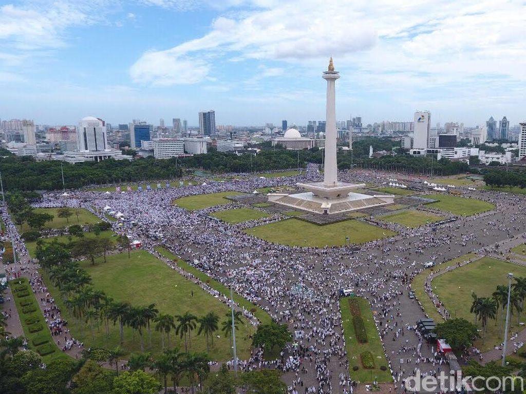 Foto Reuni 212 dari Udara Pukul 10.00-11.00 WIB