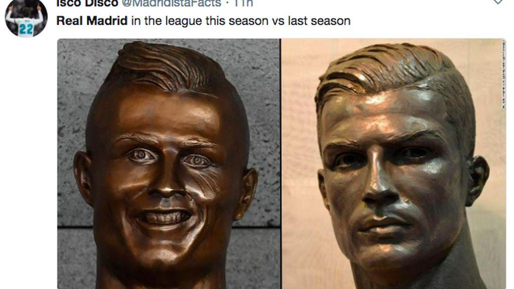 Masih Melempem, Real Madrid dan Ronaldo Jadi Bahan Meme