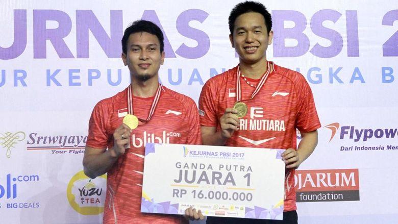 Jadi Juara Kejurnas, Ahsan/Hendra Sampaikan Pesan untuk Para Juniornya