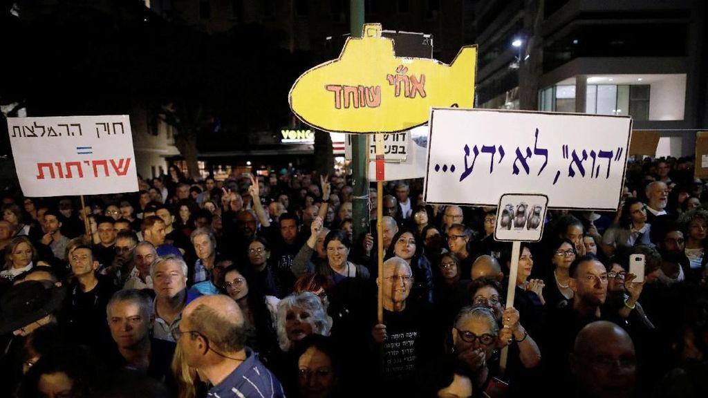 Foto: Demo Warga Israel Atas Dugaan Korupsi PM Netanyahu