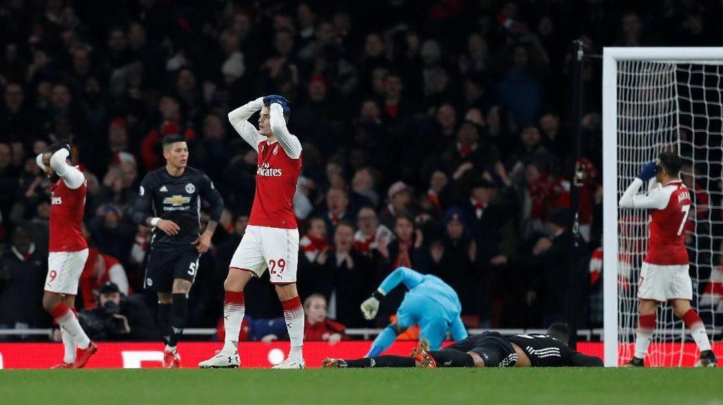 Rentetan Kemenangan Kandang Arsenal Dihentikan MU