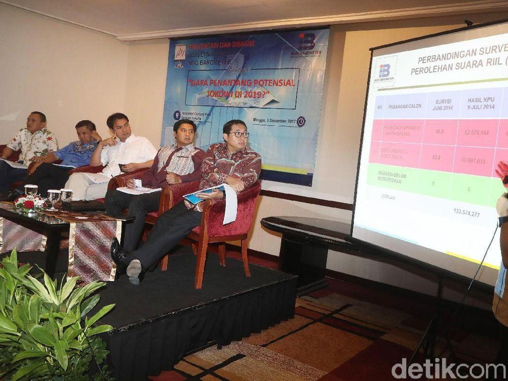 Jokowi Unggul di Survei Capres Indo Barometer