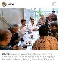 Ngopi di Bandung, Jokowi: Raos Pisan Euy