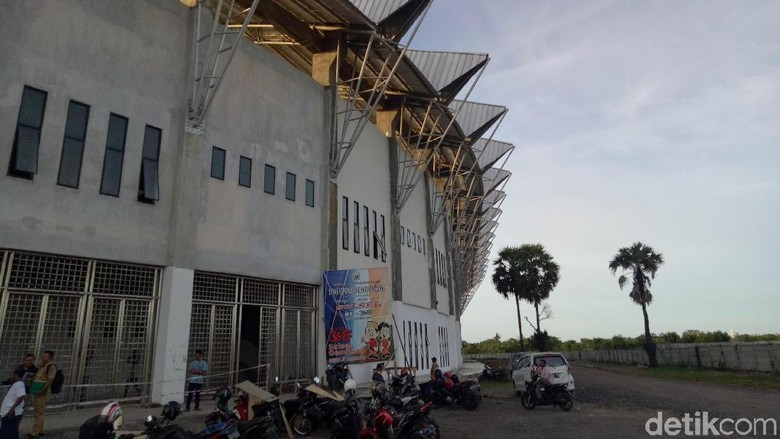 Dispora Klaim Hujan 5 Hari Penyebab Stadion Barombong Makassar Ambruk