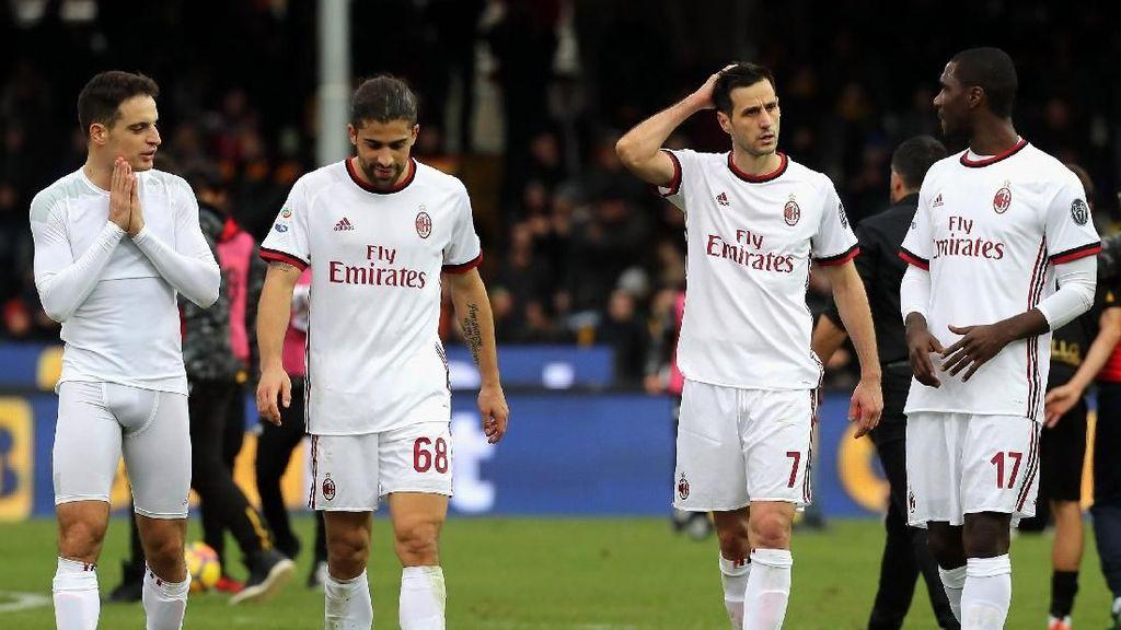 Melawan Tim Juru Kunci pun Milan Tak Mampu Menang