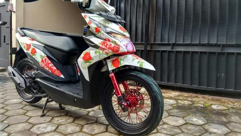 Lucu, Honda BeAt Berkonsep Shabby Chic