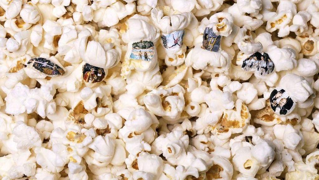 Keren! Seniman Ini Melukis Spiderman dan X-Men di Atas Popcorn