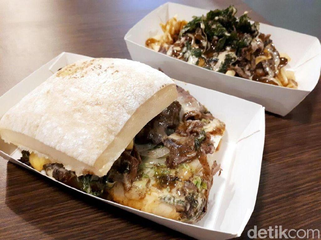 Roast Beef Gusto: Empuk Juicy Lembaran Daging Panggang Diapit Roti Ciabatta