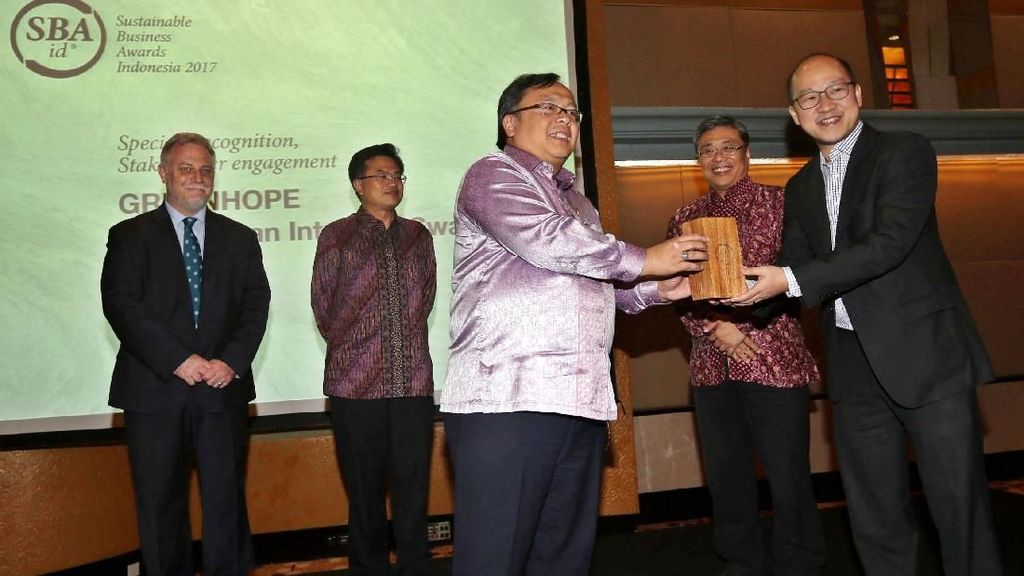 Kepala Bappenas Hadiri Sustainable Business Awards Indonesia 2017