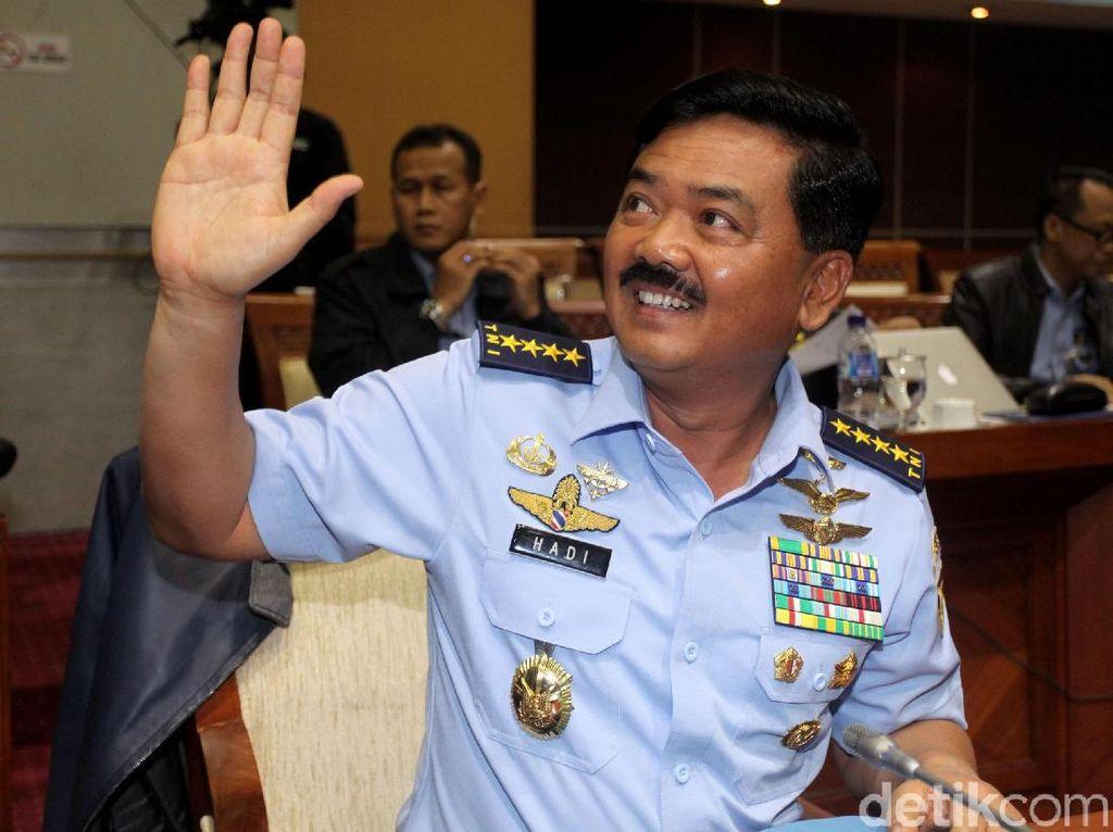 Uji Kepatutan Calon Panglima TNI Marsekal Hadi