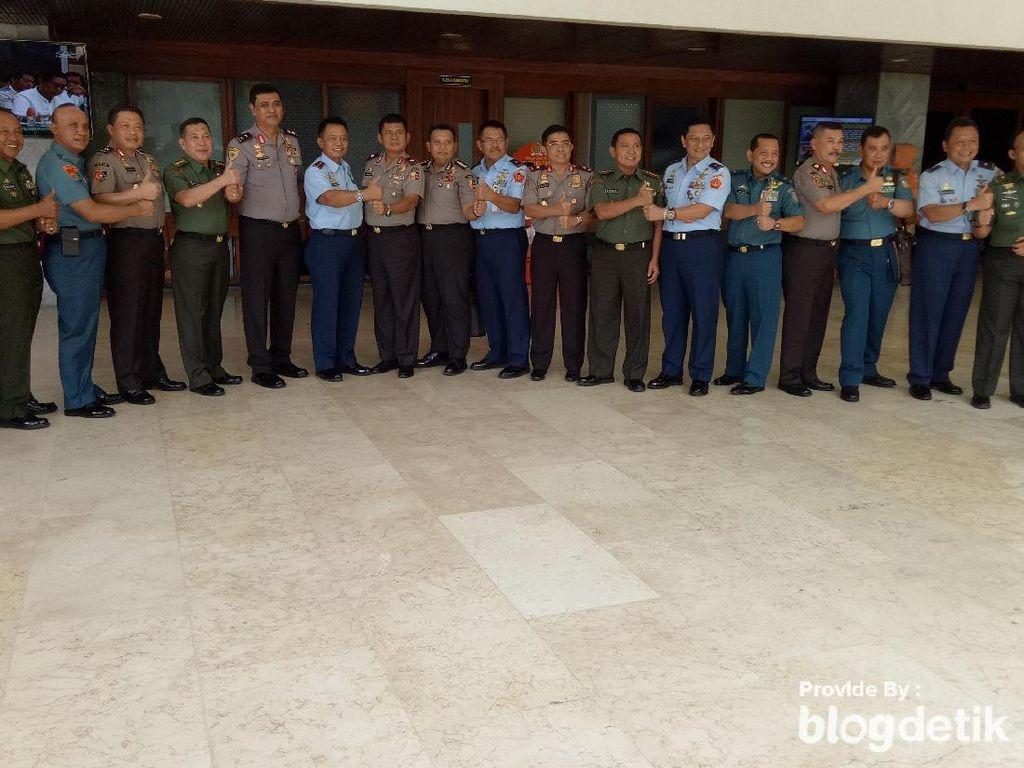 Top! TNI-Polri Kompak Jelang Uji Kepatutan Marsekal Hadi di DPR