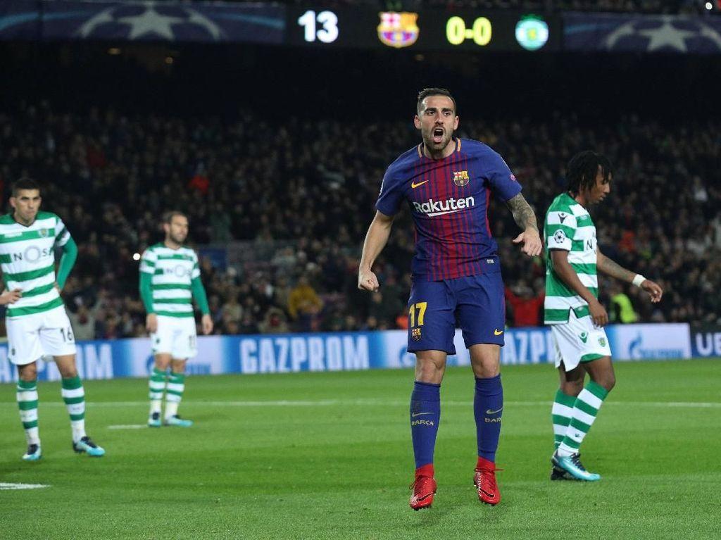 Barca Akhiri Fase Grup dengan Tundukkan Sporting 2-0