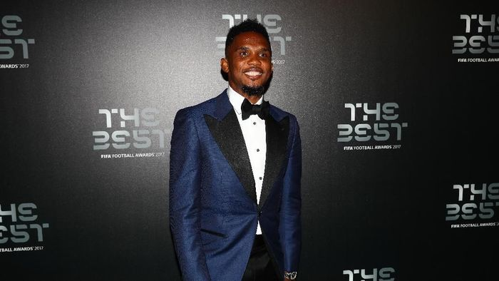 LONDON, ENGLAND - OCTOBER 23:  Samuel Eto arrives for The Best FIFA Football Awards - Green Carpet Arrivals on October 23, 2017 in London, England.  (Photo by Michael Steele/Getty Images)
