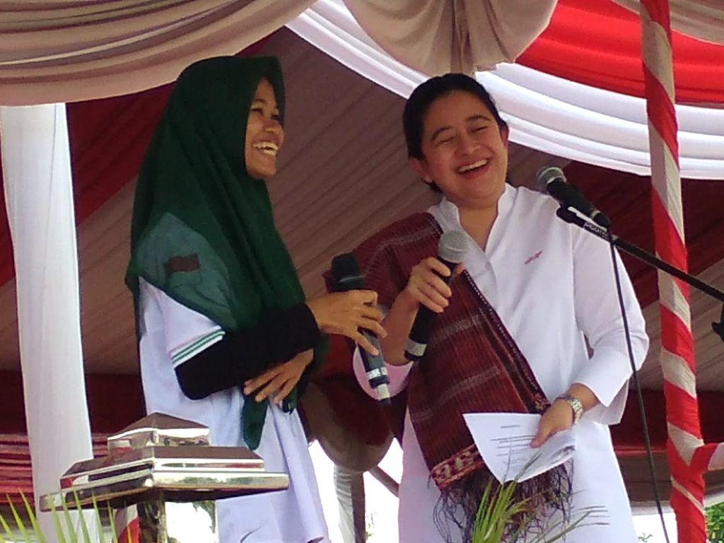 Saat Menko Puan Tergelak di Kirab Pemuda Nusantara 2017