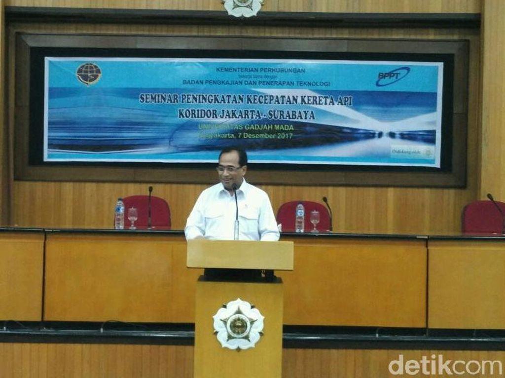 Kereta Kencang JKT-SBY Pakai Jalur Baru? Ini Kata Menhub