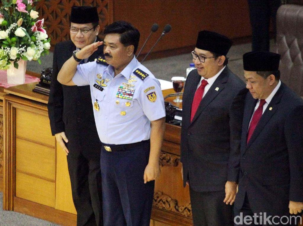 DPR Kirim Surat Persetujuan Marsekal Hadi Jadi Panglima ke Jokowi