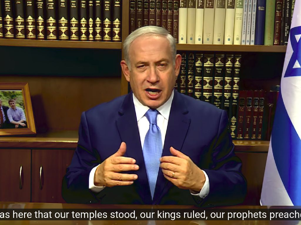 Pernyataan Lengkap Netanyahu Soal Yerusalem Jadi Ibu Kota Israel