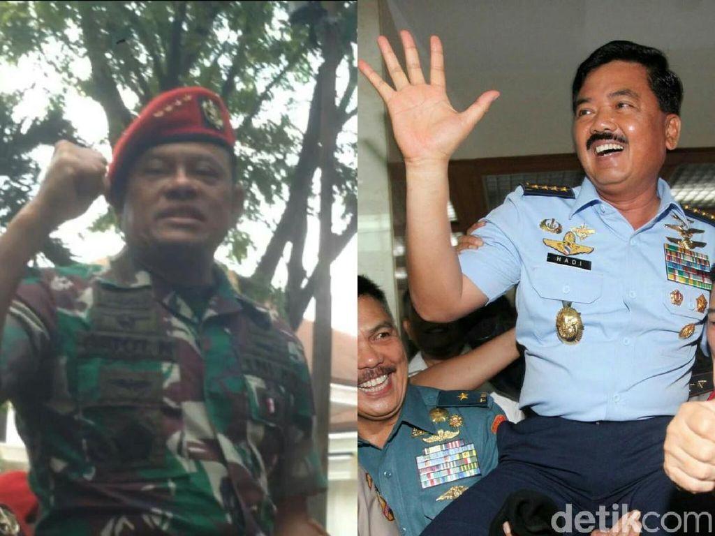 Foto: Beda Arak-arakan Jenderal Gatot dan Marsekal Hadi