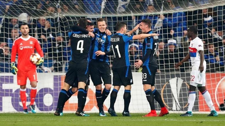 Kalahkan Lyon, Atalanta Jadi Juara Grup