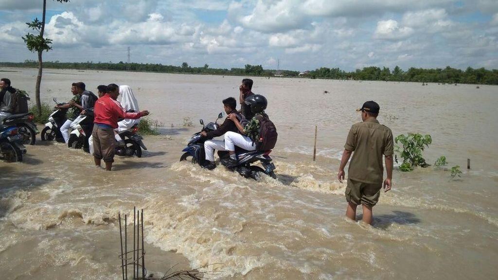 Banjir Terjang Bojonegoro, Jalan dan Puluhan Rumah Terendam