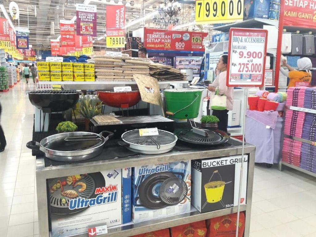 Promo Alat Barbeku di Transmart dan Carrefour