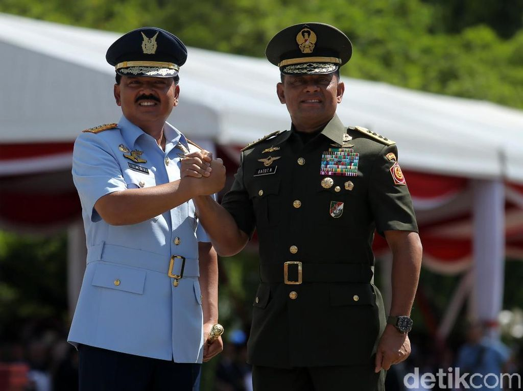Doa dan Terima Kasih Prabowo untuk Jenderal Gatot dan Marsekal Hadi