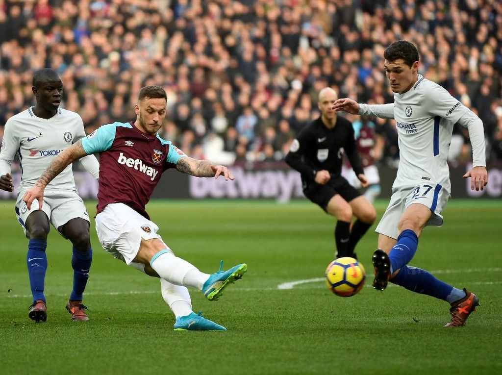 Babak I Selesai, Chelsea Tertinggal 0-1 dari West Ham