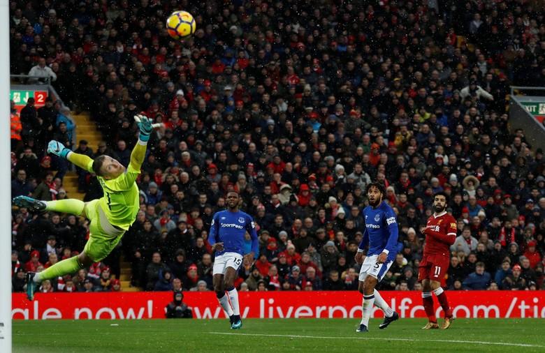 Gol Salah Bawa Liverpool Memimpin 1-0 atas Everton