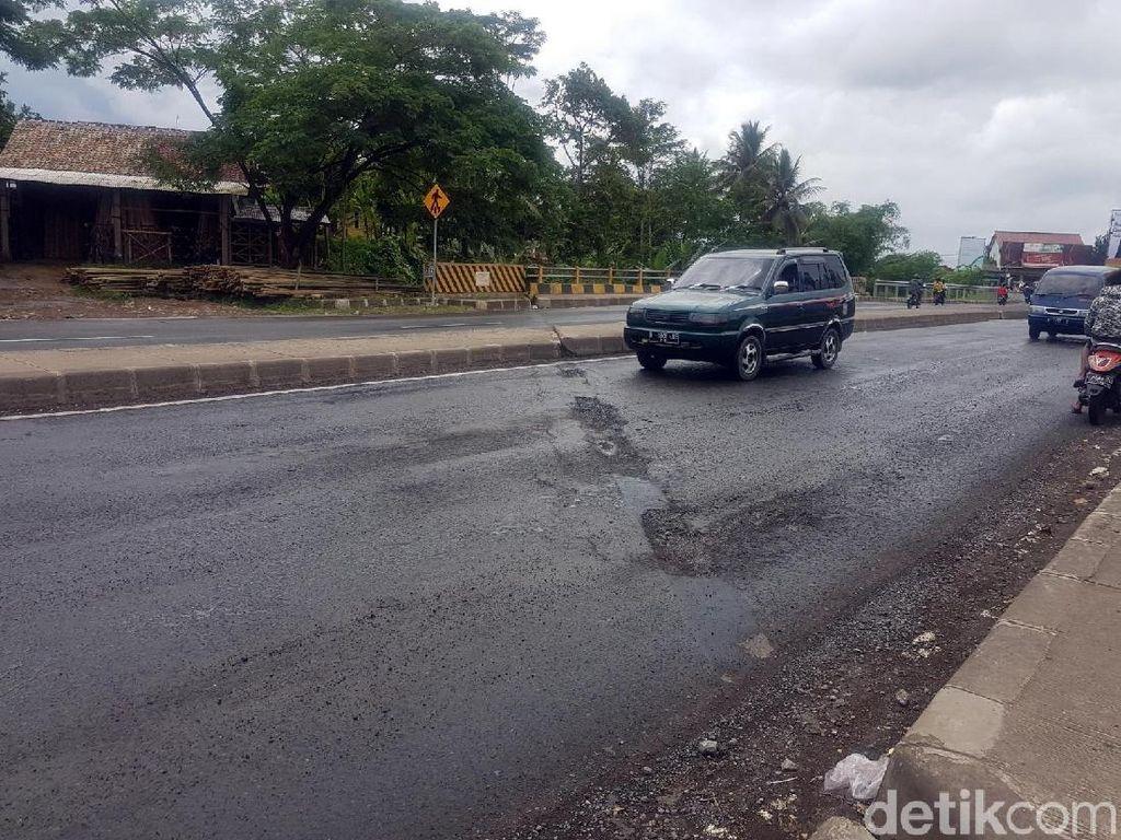 Kerap Makan Korban, Sambungan di Jalan Lingsel Sukabumi Berbahaya