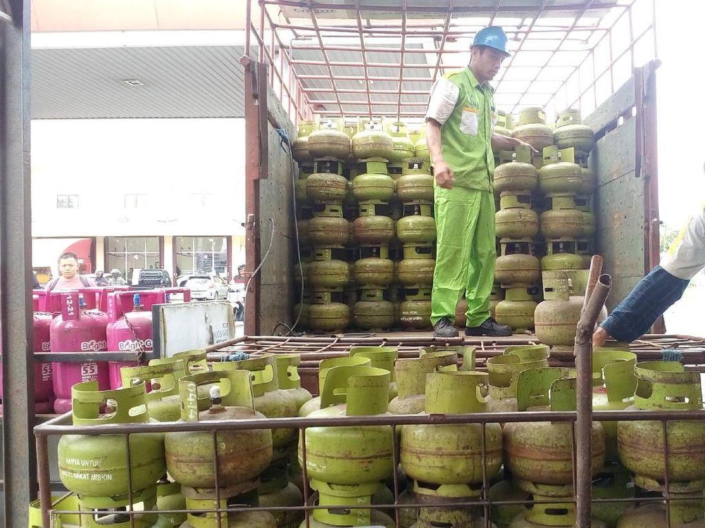 Pasokan Elpiji Melon ke Konsumen di Mojokerto Tersendat
