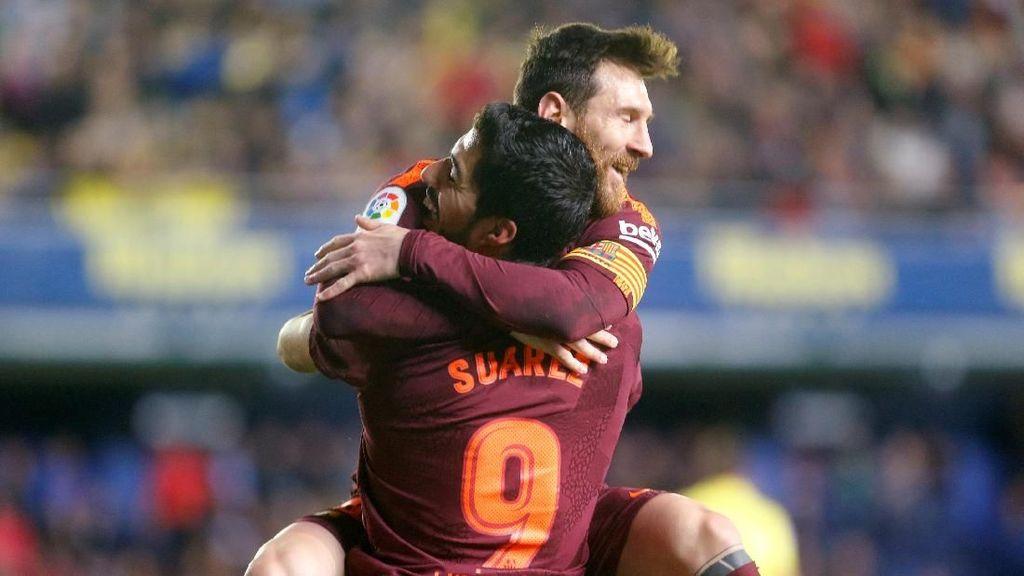 Messi-Suarez Kokohkan Barca di Puncak Klasemen