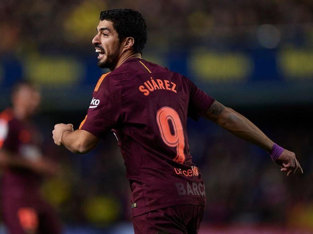 Suarez Nilai Kartu Merah Villarreal Jadi Kunci Kemenangan Barca