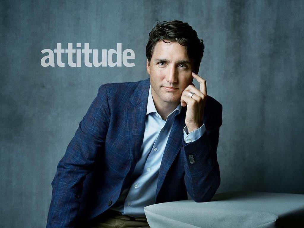 Gantengnya PM Kanada Justin Trudeau Jadi Model di Majalah LGBT