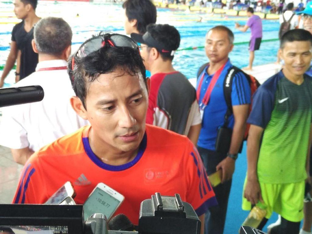 Sandiaga Minta Lurah Gelora Renovasi Trotoar Sebelum Asian Games