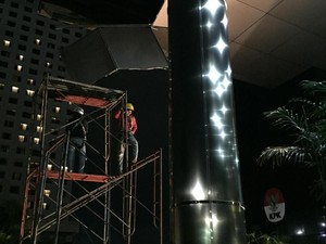 Tengah Malam, Plafon Gedung KPK yang Jebol Baru Dibenahi