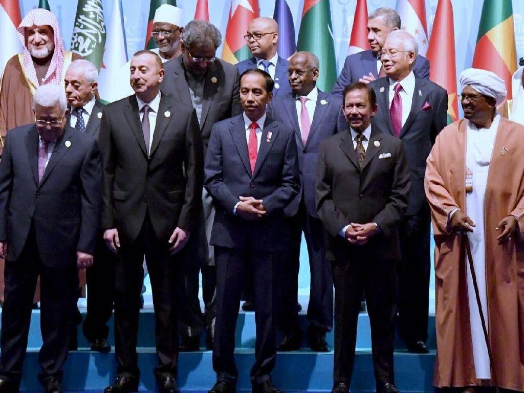 Jokowi di KTT OKI: Pengakuan Trump soal Yerusalem Tak Dapat Diterima