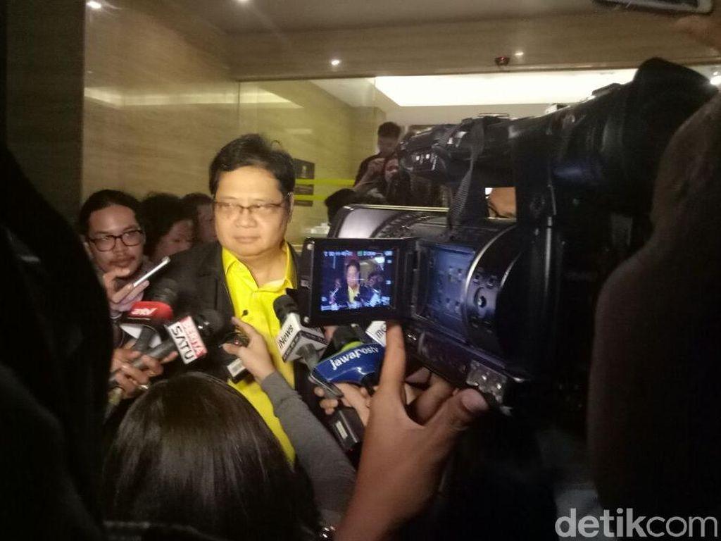 Airlangga, Idrus hingga Aziz Merapat ke DPP Jelang Pleno Golkar
