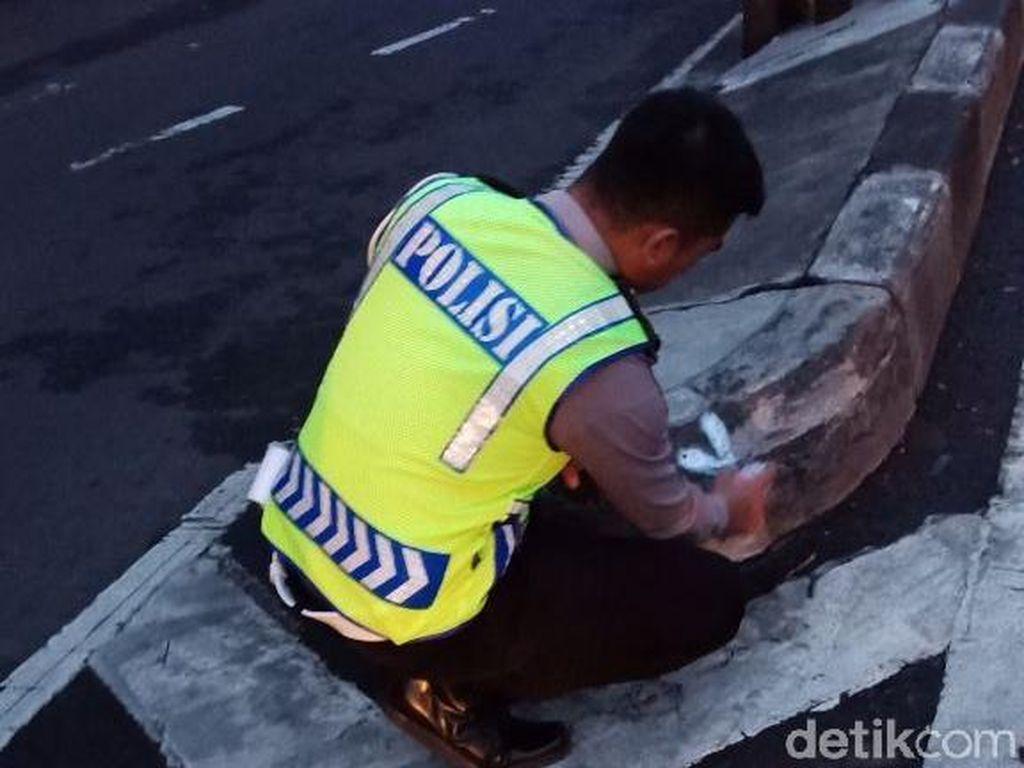Biker Tewas Tabrak Median Jalan Layang Pasupati Bandung