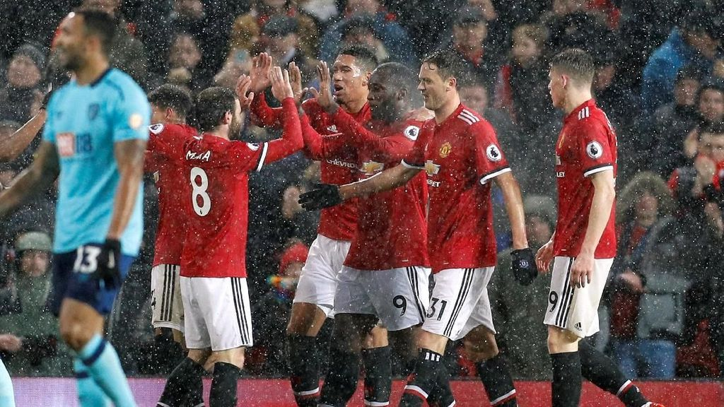 Babak I Selesai, MU Unggul 1-0 atas Bournemouth