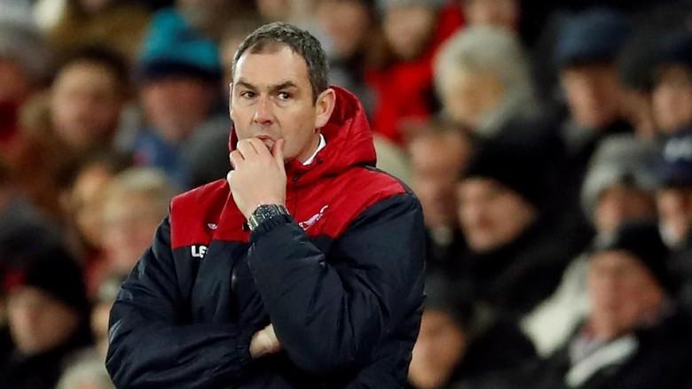 Manajer Swansea Sampai Tak Tega Lihat Timnya Jadi Bulan-bulanan City