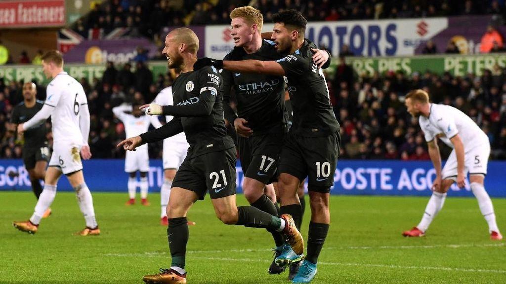 Rekor Lain yang Dipatahkan City Usai Menang atas Swansea