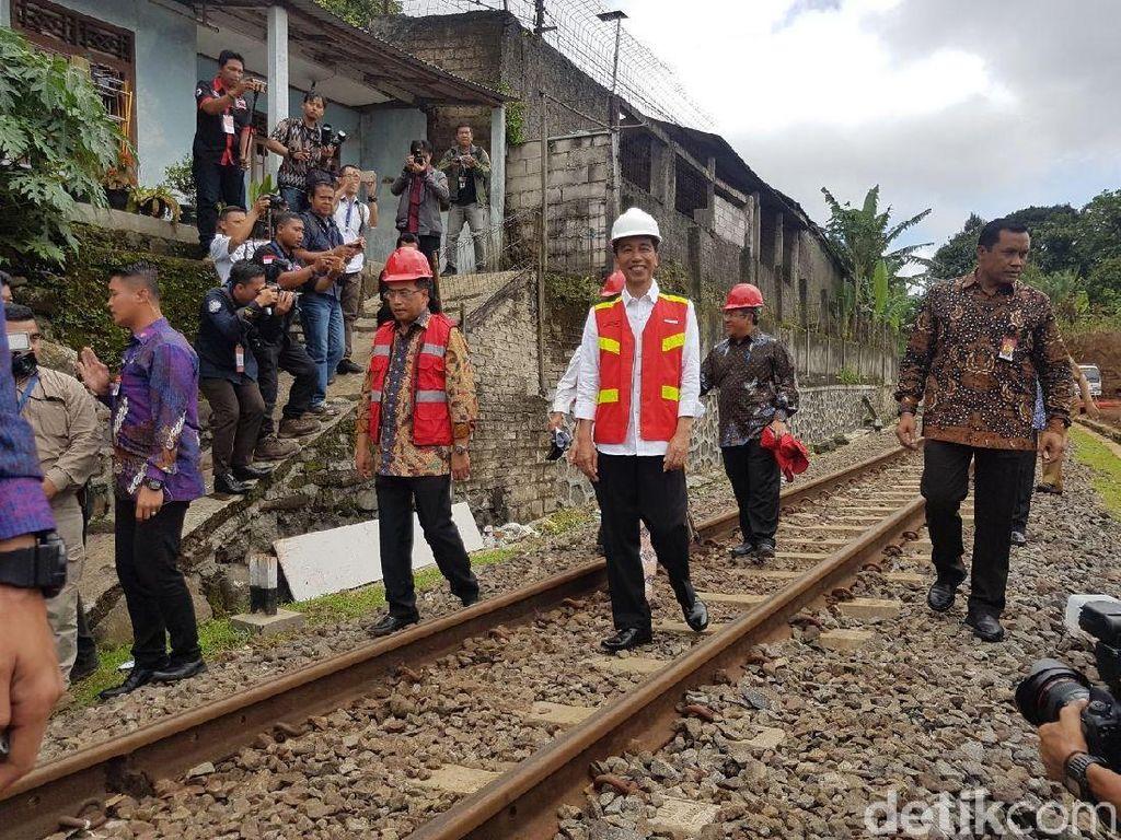 Perintah Jokowi: Jalur Ganda KA Bogor-Sukabumi Selesai 2020