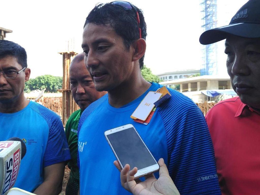 Sandiaga Pastikan Lapangan Banteng Selesai Sebelum Asian Games