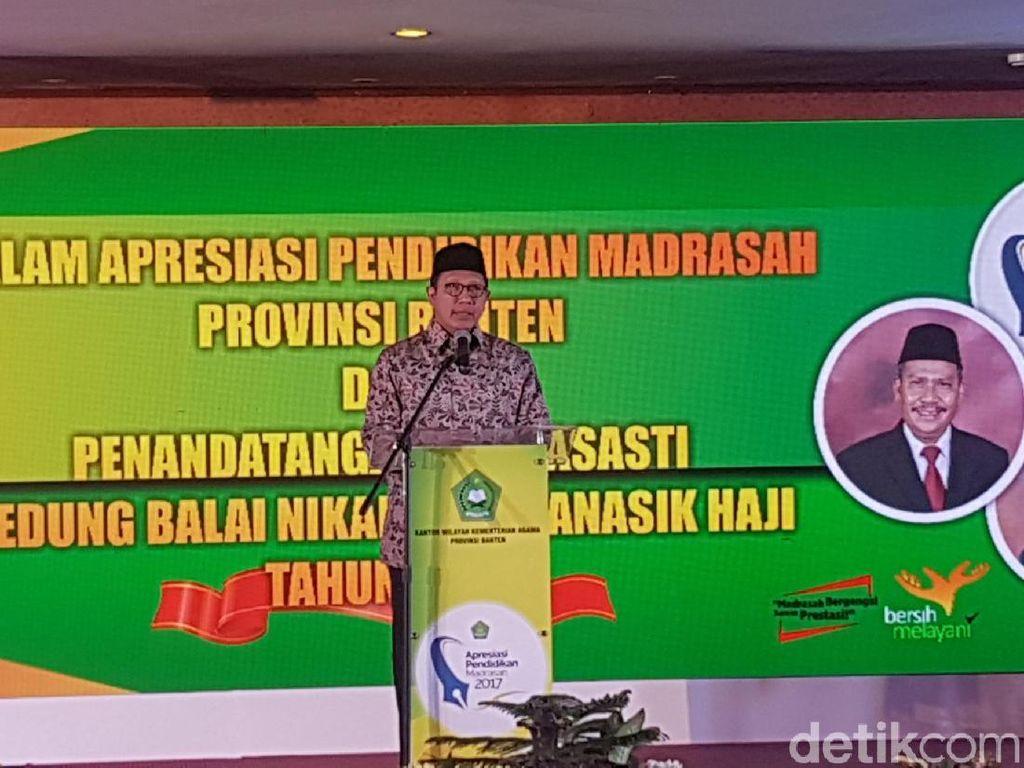 Menag Minta Madrasah yang Kondisinya Memprihatinkan di Banten Didata