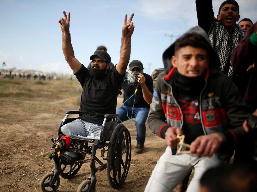 Kehilangan Kaki Tahun 2008, Pria Palestina Tewas Saat Bentrok di Gaza