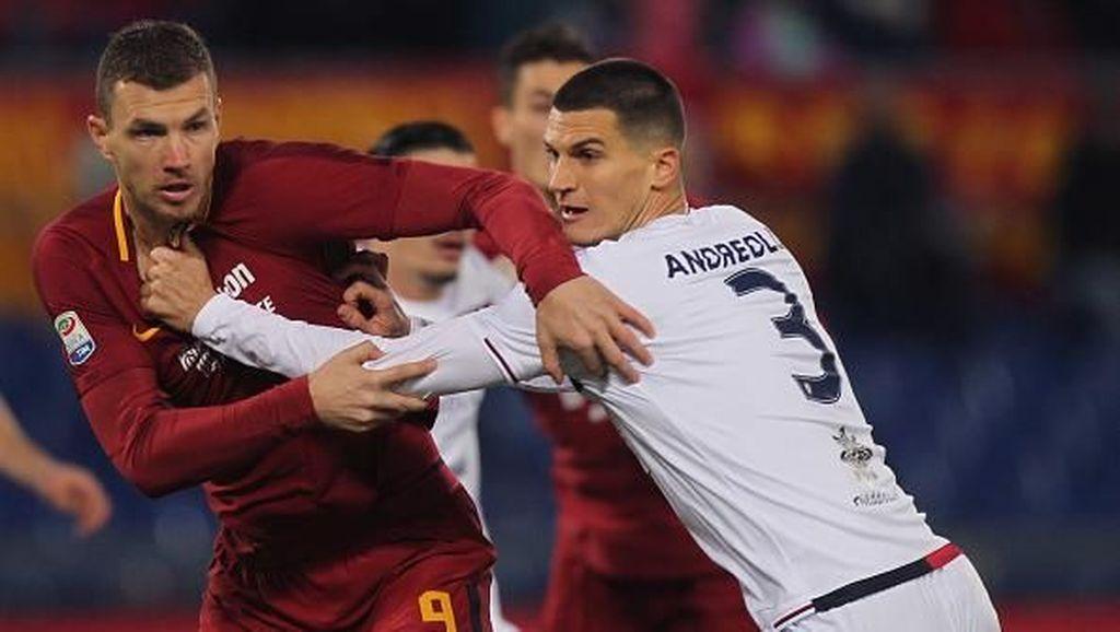 Roma Menang Dramatis atas Cagliari