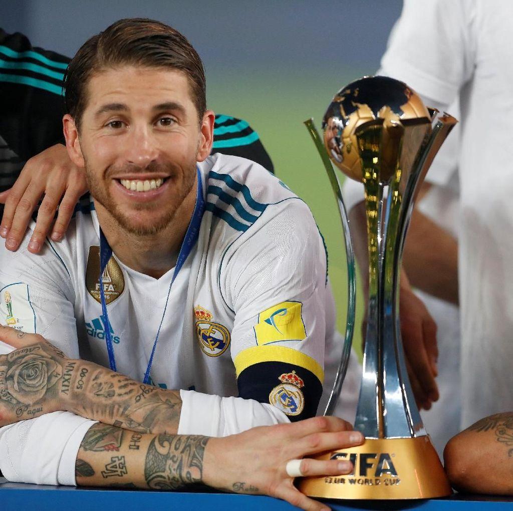 Foto: Trofi-trofi Madrid di Tahun 2017