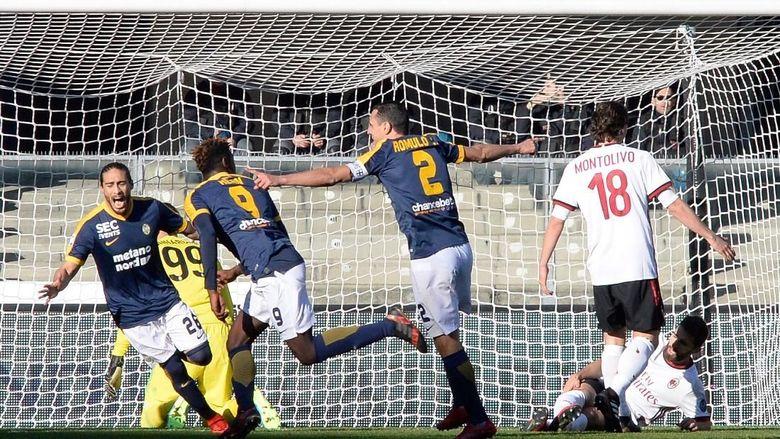MIlan Dipermalukan Verona Dengan Skor 3-0