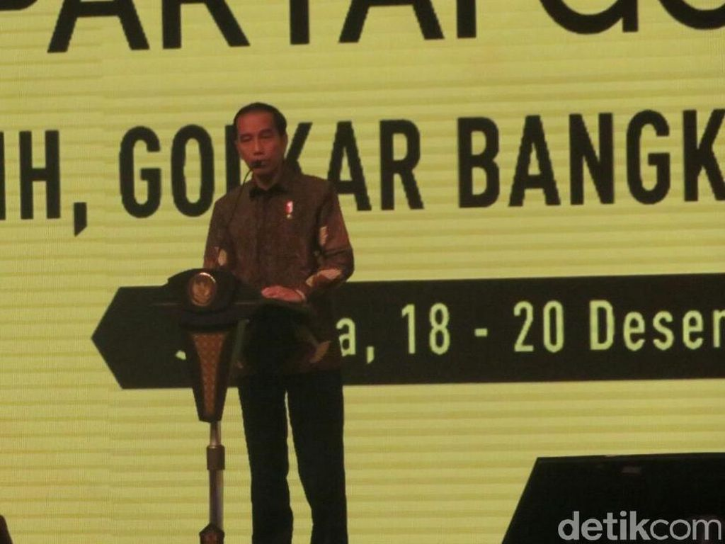 Jokowi: Saingan Berat Golkar Hanya PDIP