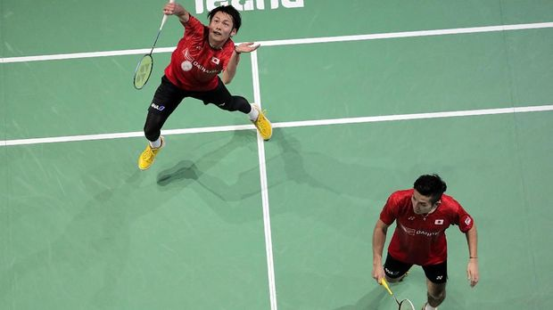 Kamura/Sonoda melaju ke final Hong Kong Terbuka 2018 usai mengalahkan Fajar/Rian. (
